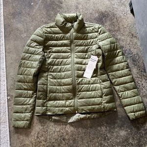 Army Green packable puffer jacket